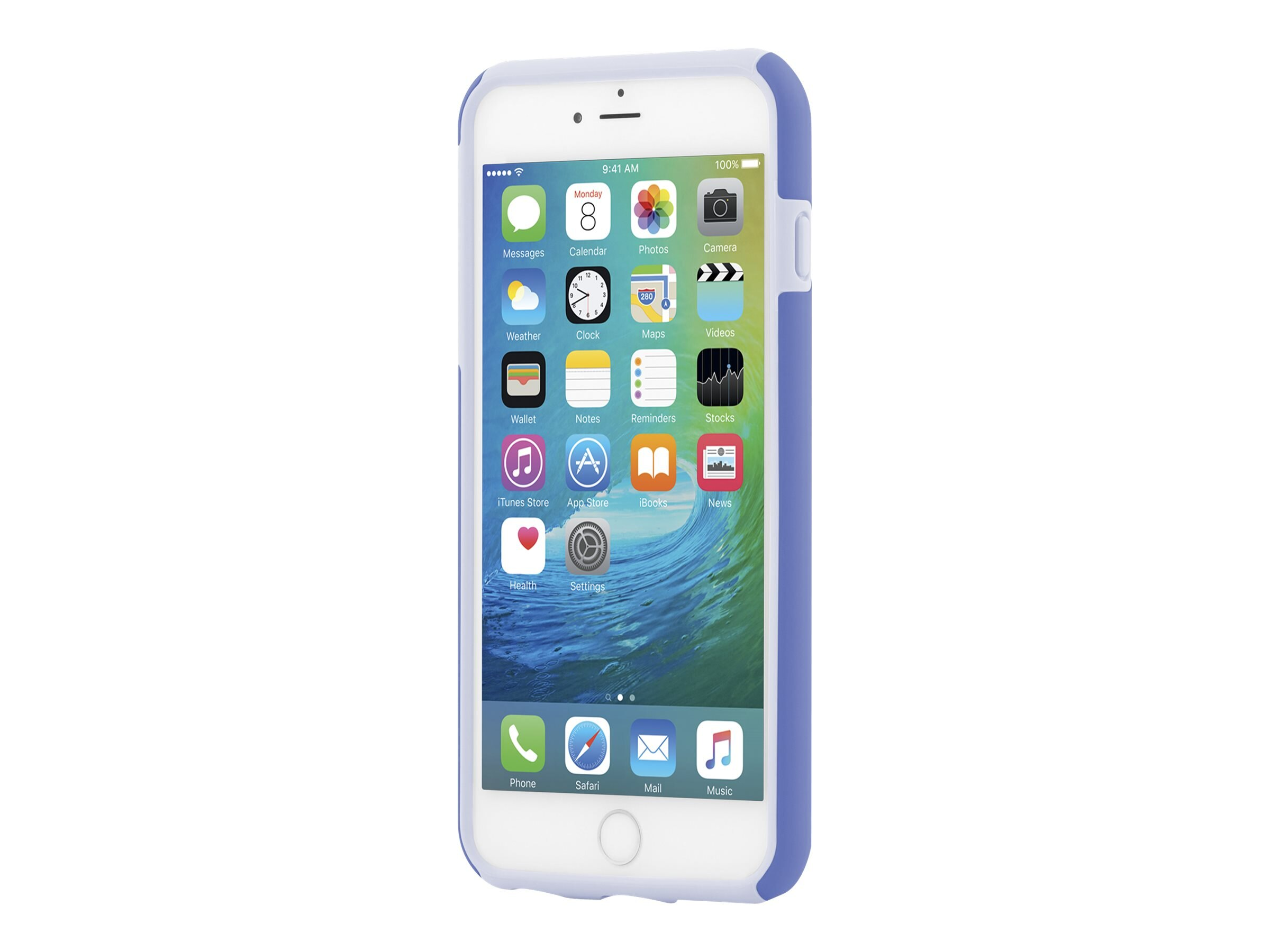 Incipio DualPro Hard Shell Case w  Impact Absorbing Core for iPhone 6 6S Plus, Periwinkle Haze Blue