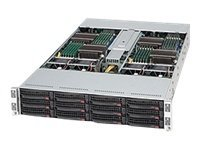 Supermicro 2U Chassis, Supports Four Nodes, 12x3.5 Hot-Swap Bays, 1400W PSU, CSE-827H-R1400B, 11650367, Cases - Systems/Servers