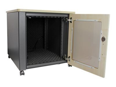 StarTech.com 12U Soundproof Server Rack Acoustic Cabinet with Casters, RKQMCAB12