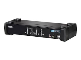 Aten 4-Port MasterView USB-DVI KVM with Cables, CS1764A, 10725056, KVM Switches