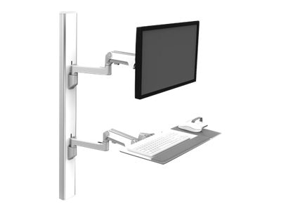 Humanscale V6 Wall Station, 47 Track, (2) 12 Straight 20 Heavy Duty Arm, V647-1414-21000