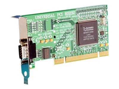 Brainboxes 1-port LP-UPCI RS232 Low Profile Serial Card