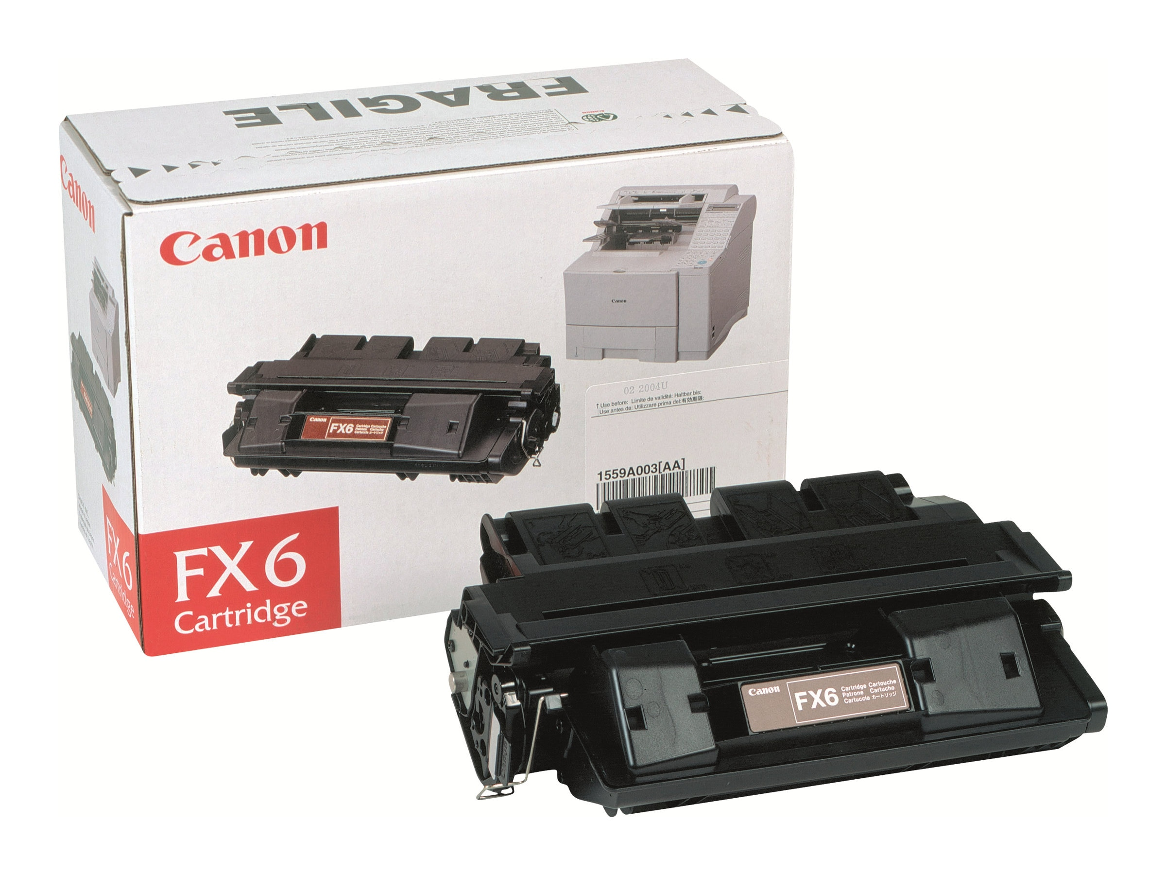Canon Black FX-6 Toner Cartridge for Laser Class 3170 3175 Series Fax Machines, 1559A002