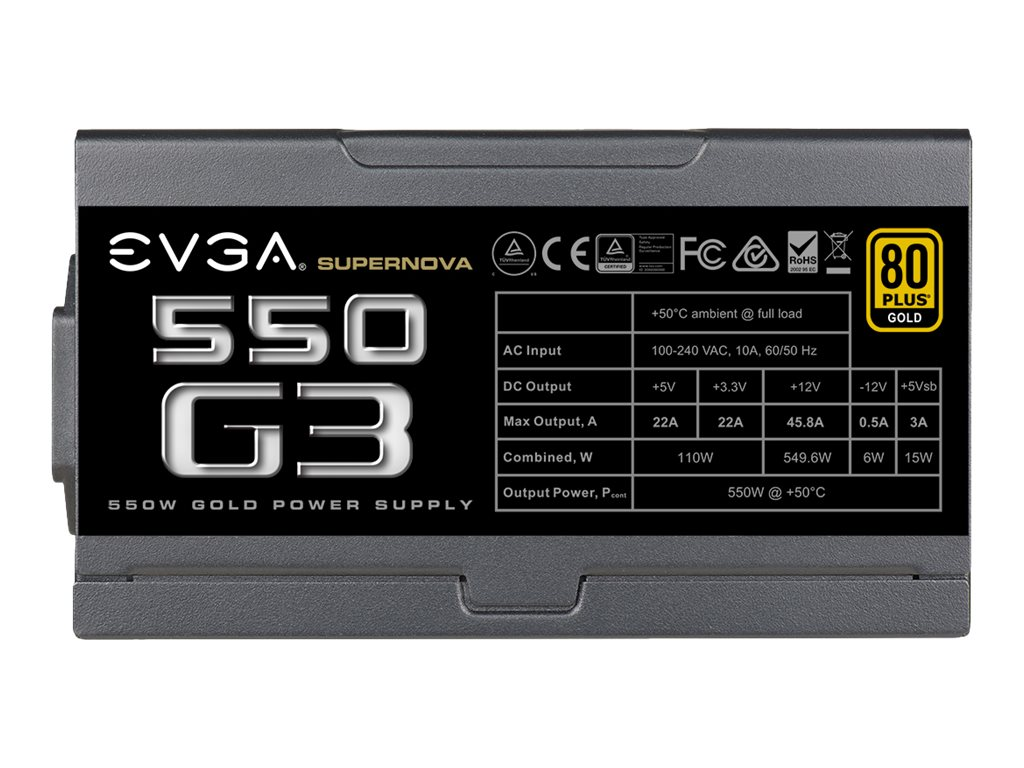 eVGA 550W Supernova 550 G3 Power Supply, 220-G3-0550-Y1