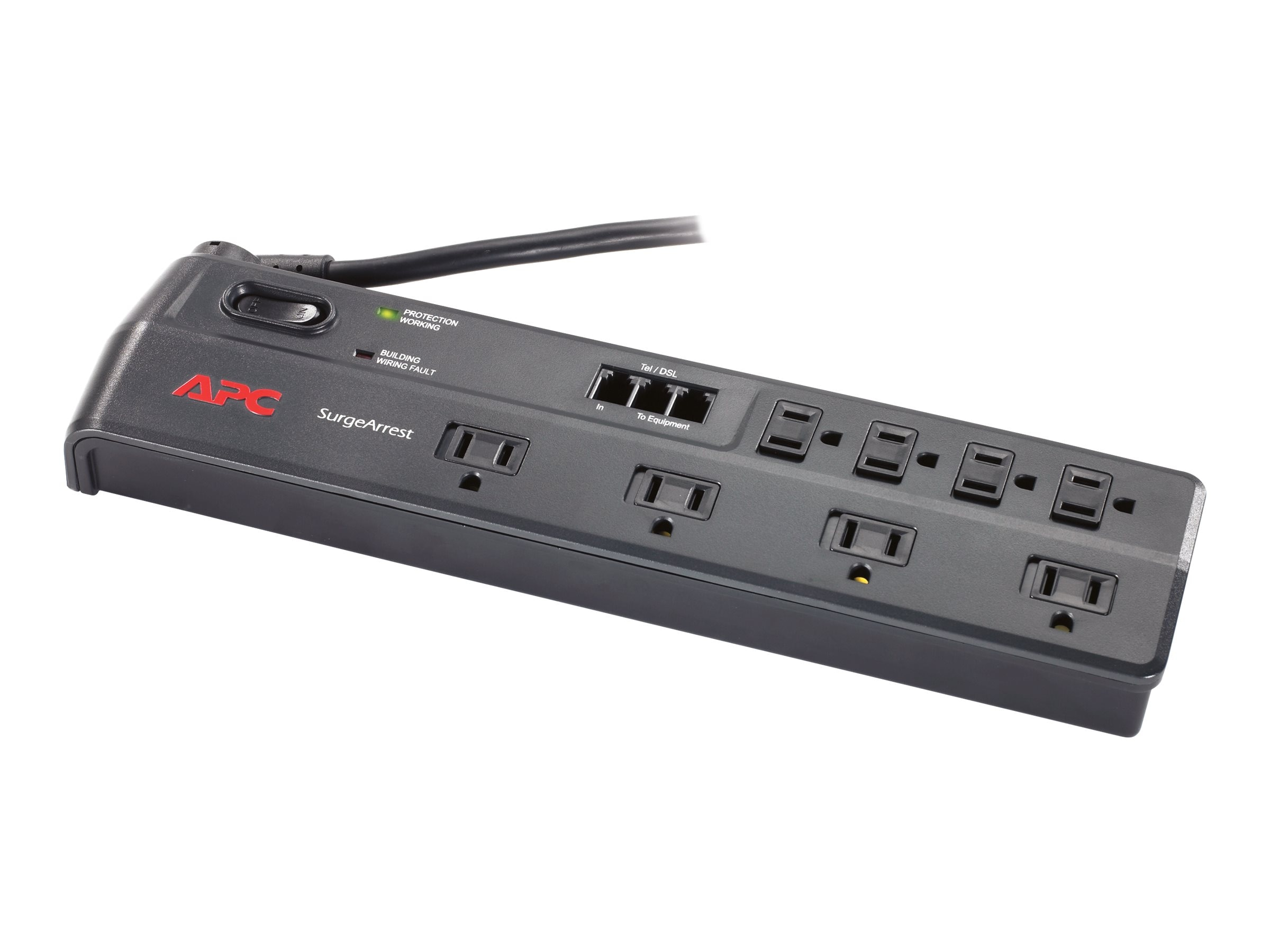 APC Home Office SurgeArrest (8) Outlets, 1750 joules, Telephone Splitter, P8T3