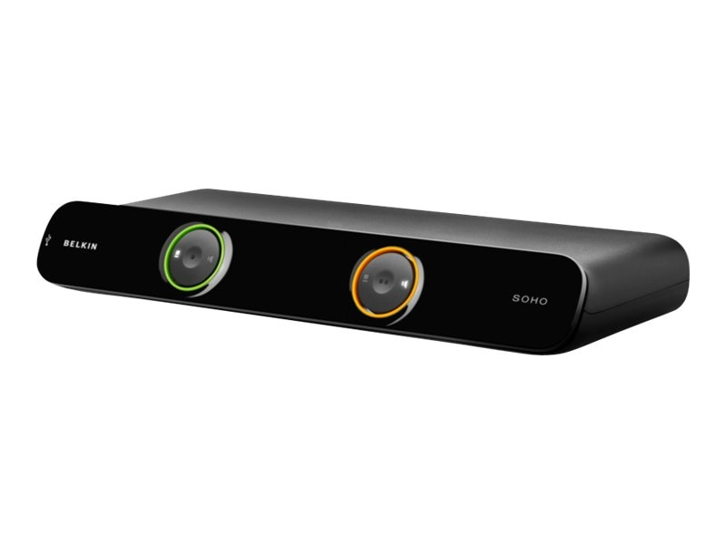 Belkin SOHO KVM Switch with Audio, Dual VGA and USB, 2-Port, F1DH102L, 10445610, KVM Switches
