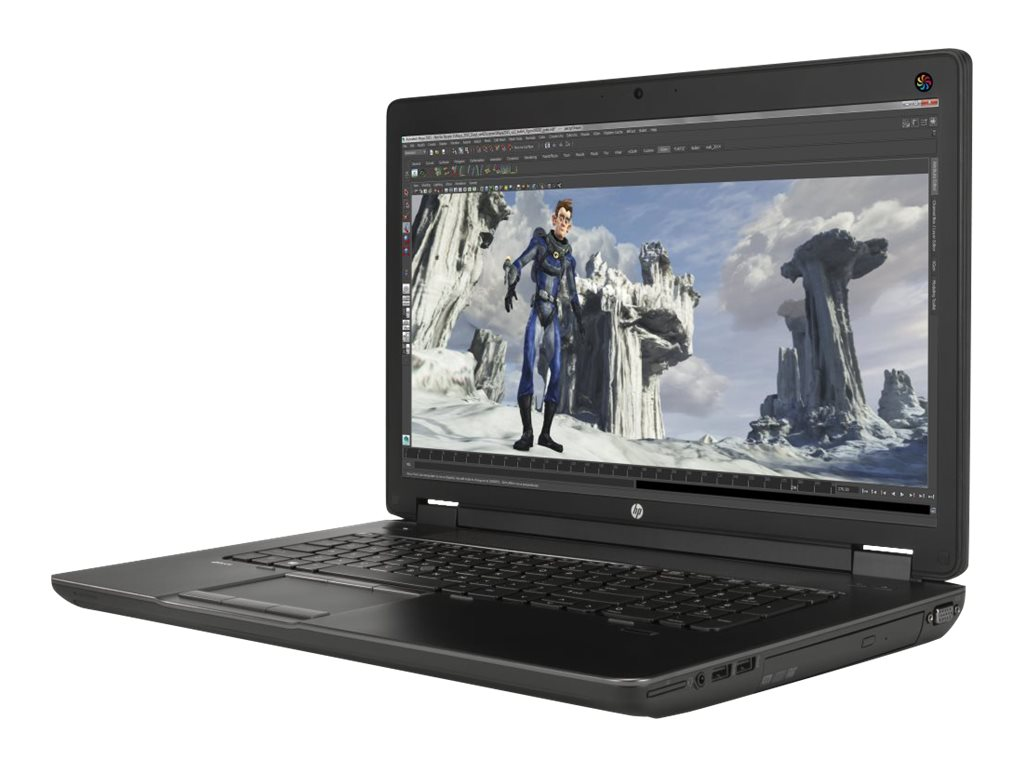 HP Smart Buy ZBook 17 G2 Core i7-4710MQ 2.5GHz 8GB 1TB DVD SM ac BT FR K1100M 17.3 HD+ W7P64-W8.1, K4K39UT#ABA, 17862694, Workstations - Mobile