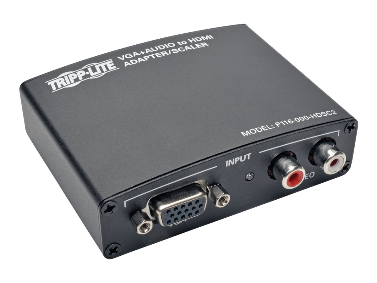 Tripp Lite VGA with RCA Stereo Audio to HDMI Converter Scaler, P116-000-HDSC2