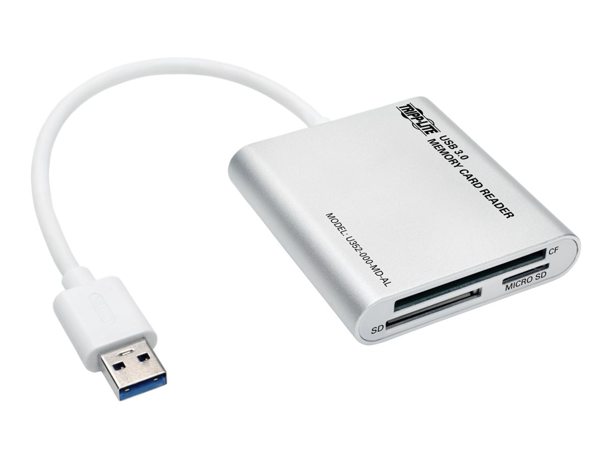 Tripp Lite USB 3.0 SuperSpeed Multi-Drive Memory Card Reader Writer, Aluminum Case