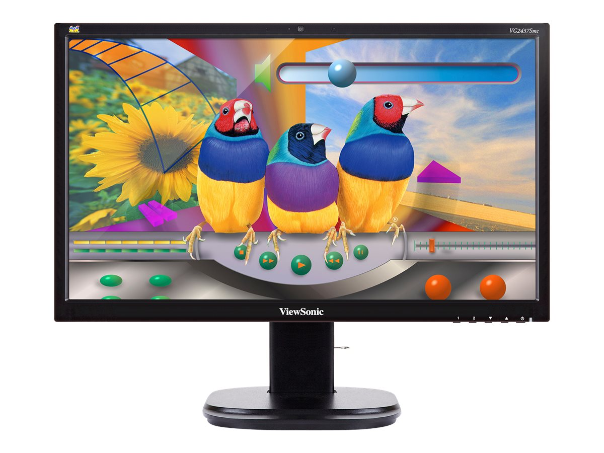 ViewSonic 24 VG2437SMC Full HD LED-LCD Monitor with Webcam, Black, VG2437SMC, 18392794, Monitors - LED-LCD