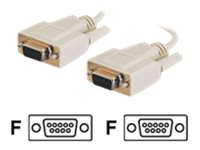 C2G DB9 F-F Cable, Beige, 6ft, 2694, 8866212, Cables