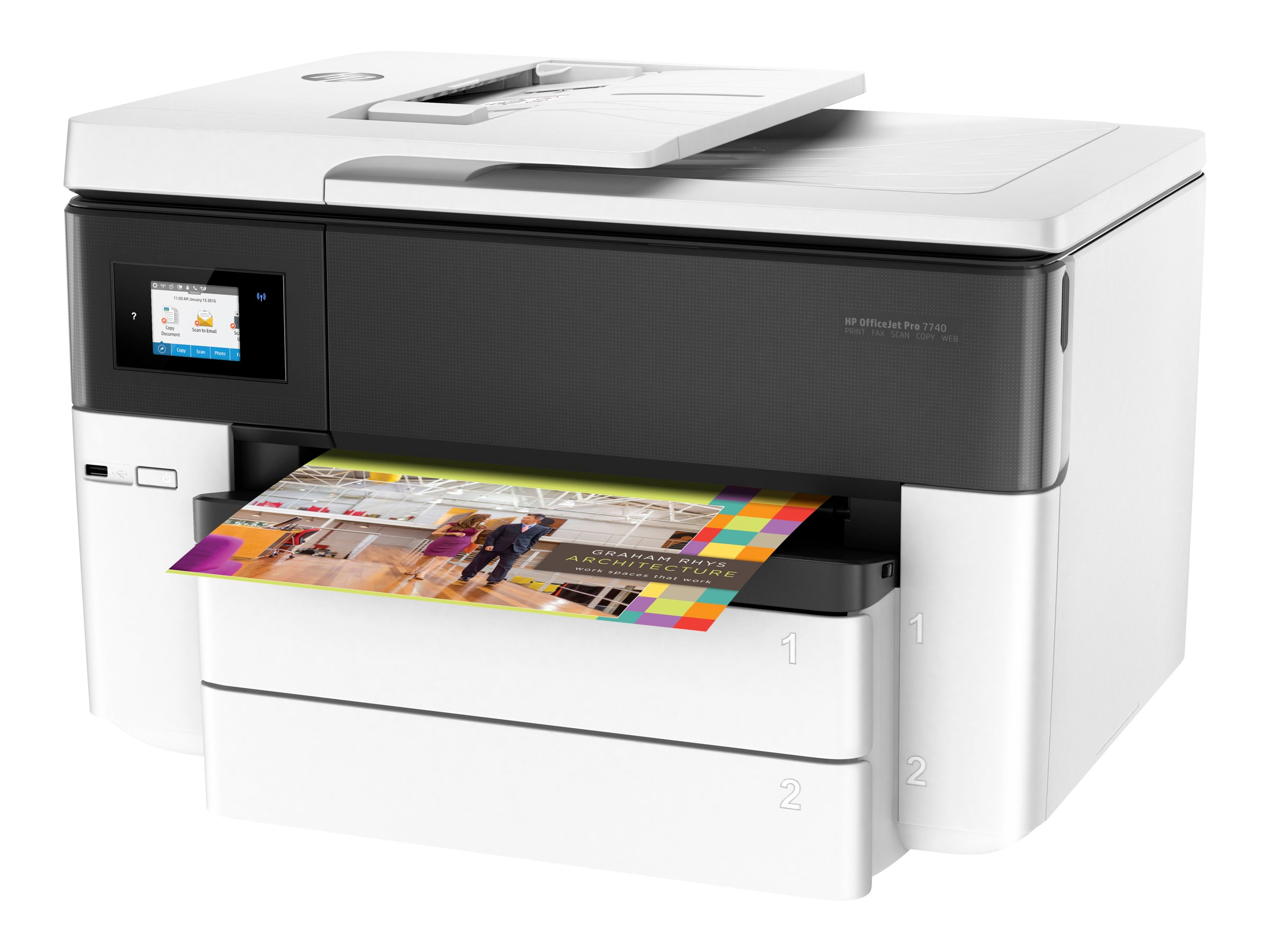 HP OfficeJet Pro 7740 Wide Format AIO Printer