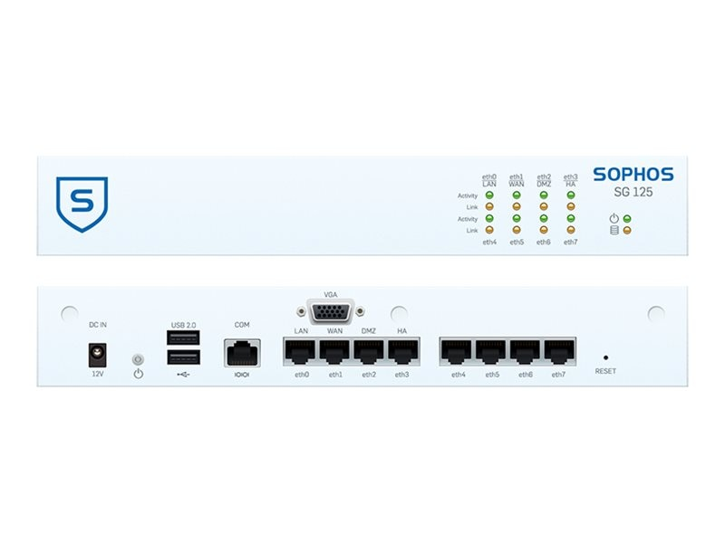Sophos Corp. SG 125 TotalProtect 24x7  3-year (US power cord), SB1C3CSUSK, 18183651, Wireless Access Points & Bridges