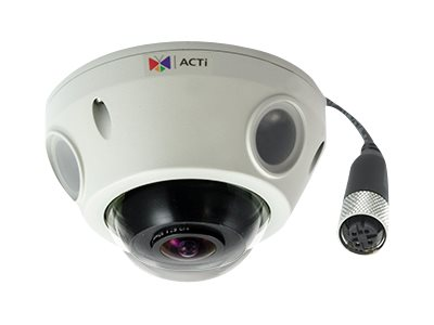 Acti 5MP Oudoor Day Night Basic WDR Mini Fisheye Dome Camera, E925M