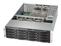 Supermicro SuperChassis 836BE26-R920B 3U Chassis Support for eATX, ATX Motherboards, Black