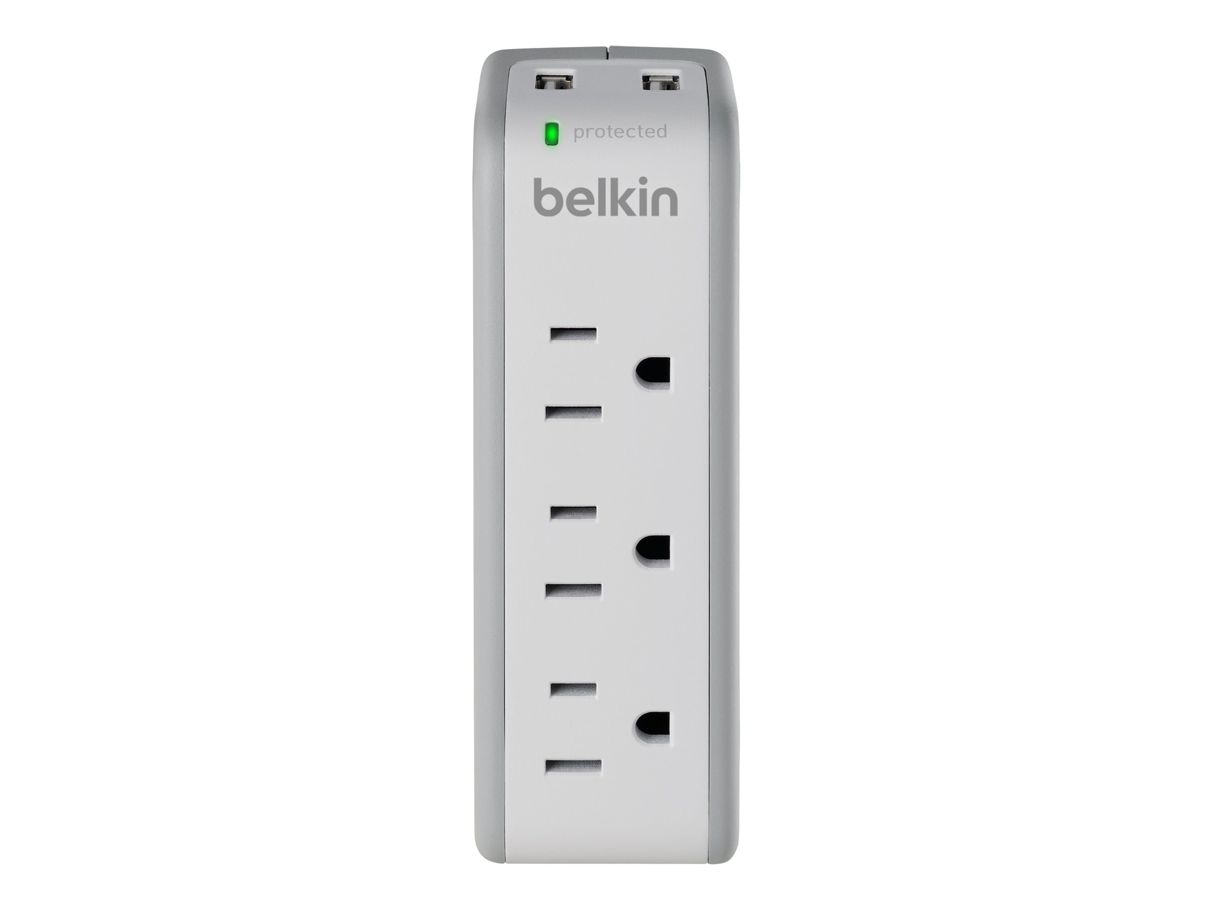 Belkin Mini Surge Protector with USB Charger, (2) USB Outlets, 918 Joules - $1 Instant Savings, BZ103050-TVL, 11662974, Power Converters