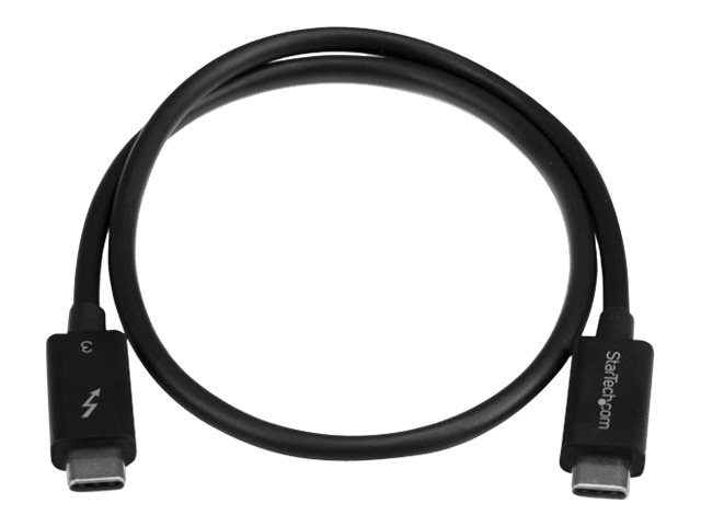 StarTech.com Thunderbolt 3 USB-C M M Cable, Black, 0.5m, TBLT34MM50CM