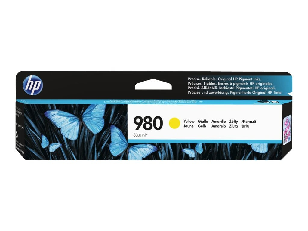 HP 980 (D8J09A) Yellow Original Ink Cartridge, D8J09A, 16843580, Ink Cartridges & Ink Refill Kits