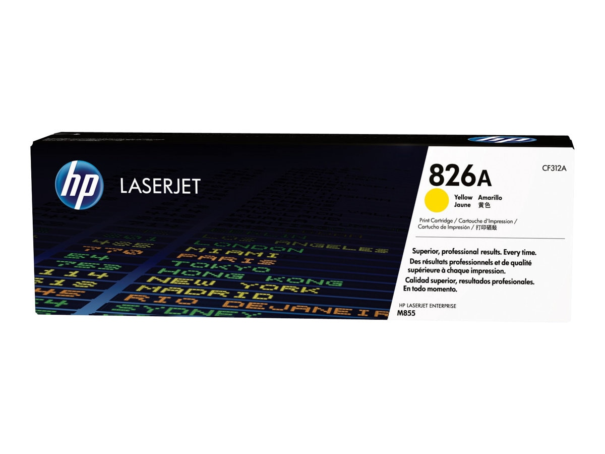 HP 826A (CF312A) Yellow Original LaserJet Toner Cartridge for HP Color LaserJet Enterprise M855 Series