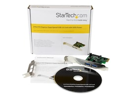 StarTech.com 2-Port PCI Express (PCIe) SuperSpeed USB 3.0 Card Adapter with UASP - SATA Power, PEXUSB3S24, 16935521, Controller Cards & I/O Boards