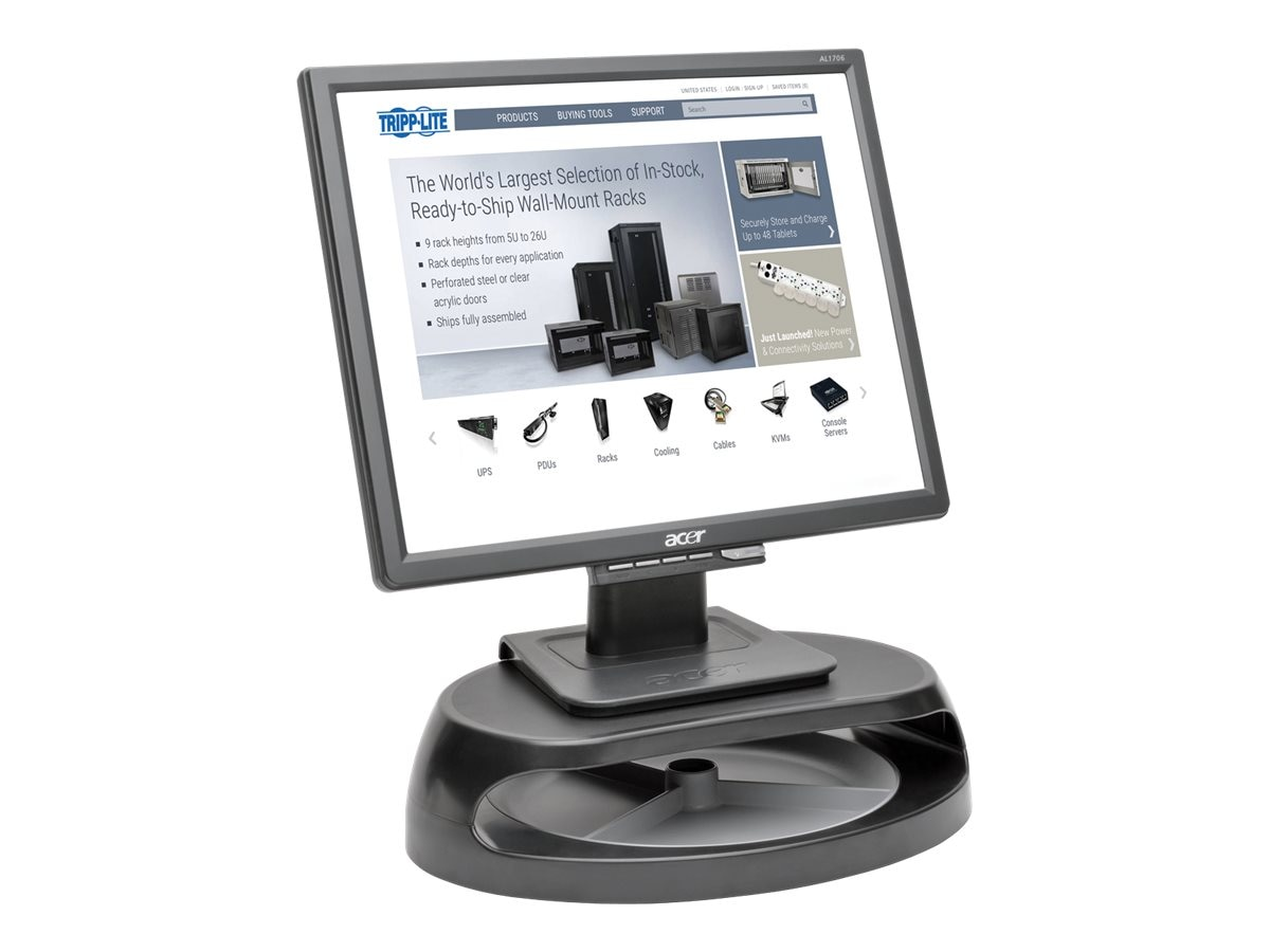 Tripp Lite Universal Monitor Riser with Accessory Tray, Gray, MR1208TRAY