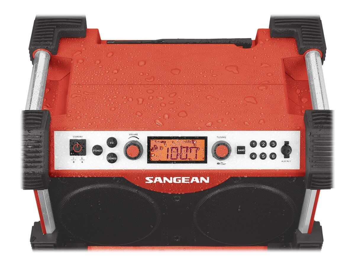 Sangean Fatbox AM FM Utility Radio - Red, FB-100