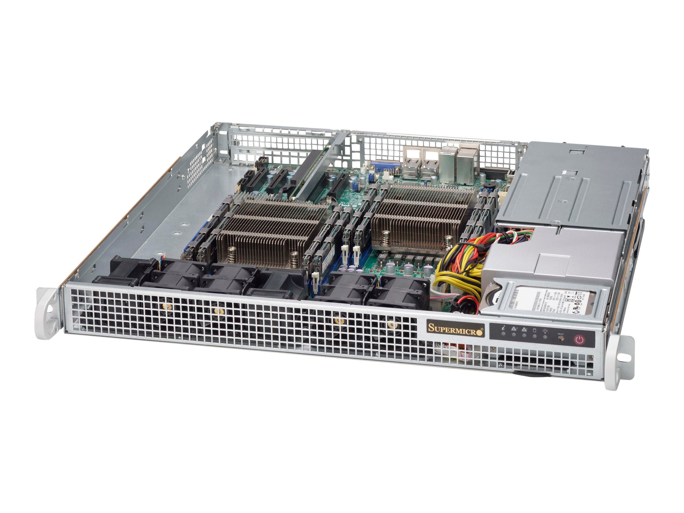 Supermicro Chassis, SuperChassis 514-R400C 1U RM E-ATX (2x)Intel AMD Family 2x2.5 Bays 1xSlot 2x400W