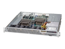 Supermicro Chassis, SuperChassis 514-R400C 1U RM E-ATX (2x)Intel AMD Family 2x2.5 Bays 1xSlot 2x400W, CSE-514-R400C, 18557819, Cases - Systems/Servers