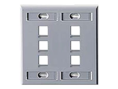 Leviton Quickport Wallplate 6-port
