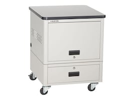 Black Box 10-Unit iPad, Chromebook, Tablet, and Laptop Locker with Casters, UD10KP-C, 17354155, Computer Carts