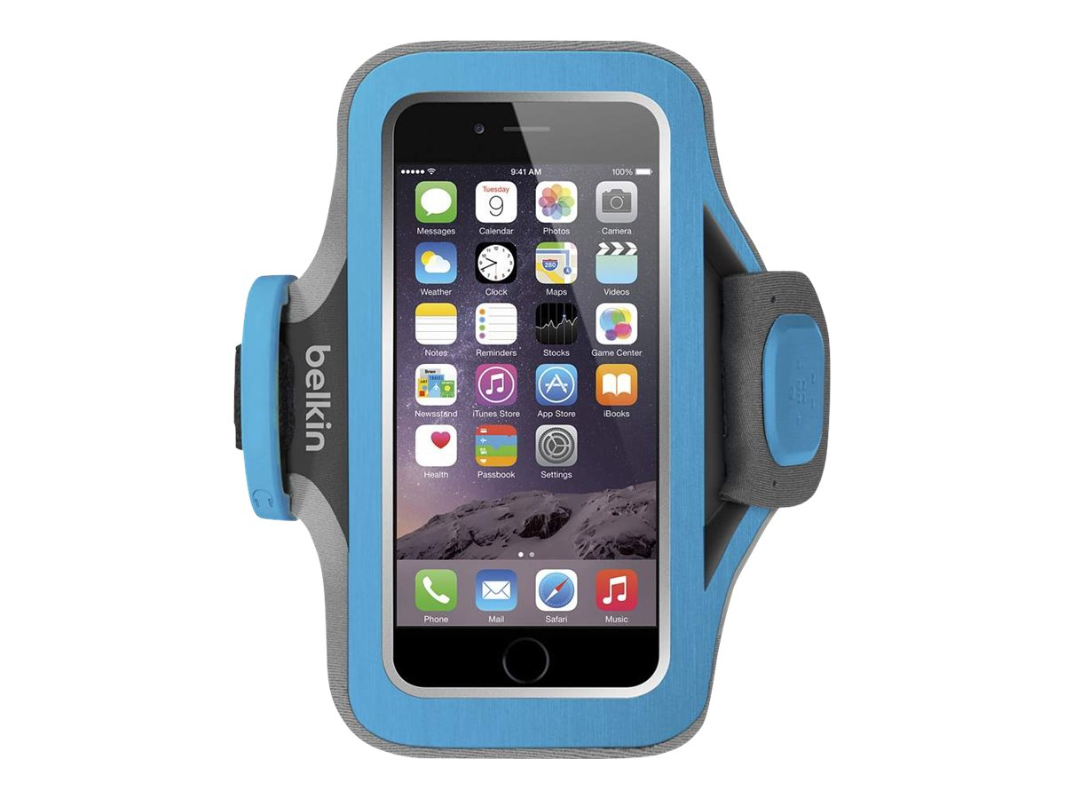 Belkin Slim-Fit Plus Armband for iPhone 6, Topaz, F8W499BTC03, 18815865, Carrying Cases - Phones/PDAs
