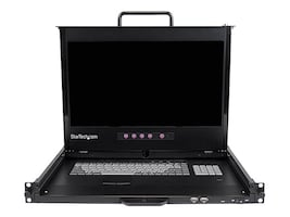 StarTech.com 17 HD 1080p Dual-rail 1U Rackmount LCD Console, Fingerprint Reader, Front USB Hub, RACKCOND17HD, 16346031, KVM Displays & Accessories