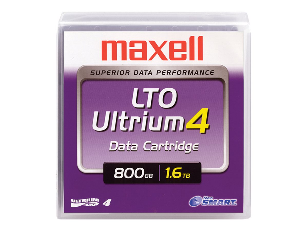Maxell 800GB 1.6TB LTO-4 Ultrium Tape Cartridge, 183906, 7664387, Tape Drive Cartridges & Accessories