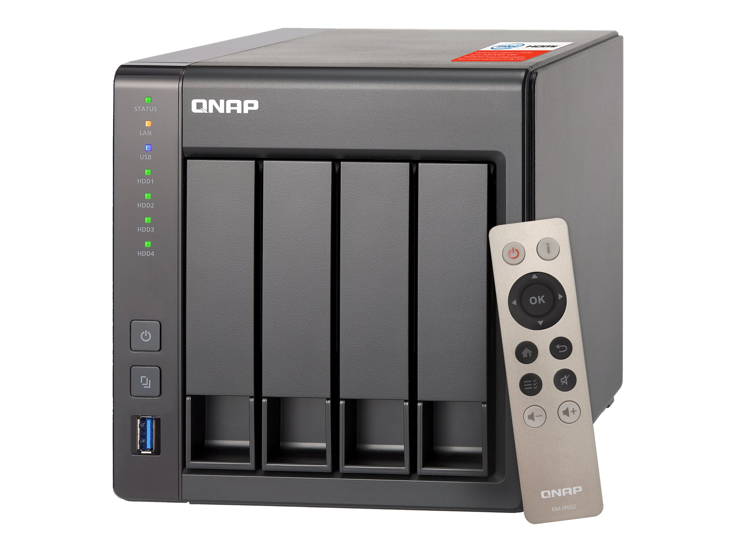 Qnap TS451+ 8GB RAM 4-Bay Personal Cloud NAS, TS-451+-8G-US