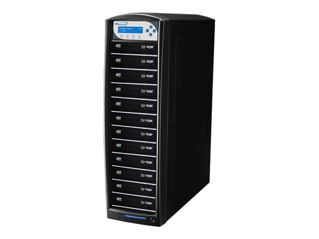 Vinpower SharkBlu Blu-ray XL DVD CD USB 1:12 Tower Duplicator w  Hard Drive, SHARKBLU-S12T-XL-BK, 15129552, Disc Duplicators