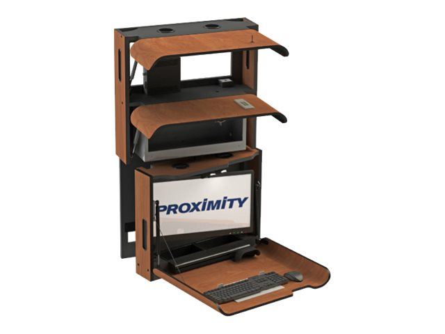 Proximity Classic Self-Disinfecting Wall Station with Monitor Tilt, Right Swivel, Med Storage, Frosty White