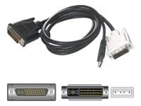 C2G M1 to DVI-D and USB Cable, 6ft, 38089, 5969873, Cables