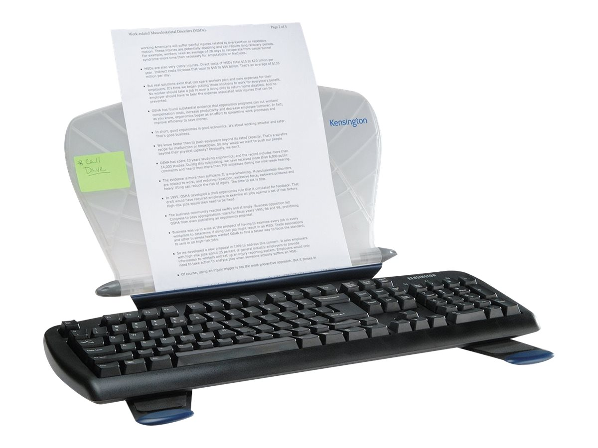 Kensington InSight InLine Copyholder with SmartFit System, K62097US, 14421498, Monitor & Display Accessories