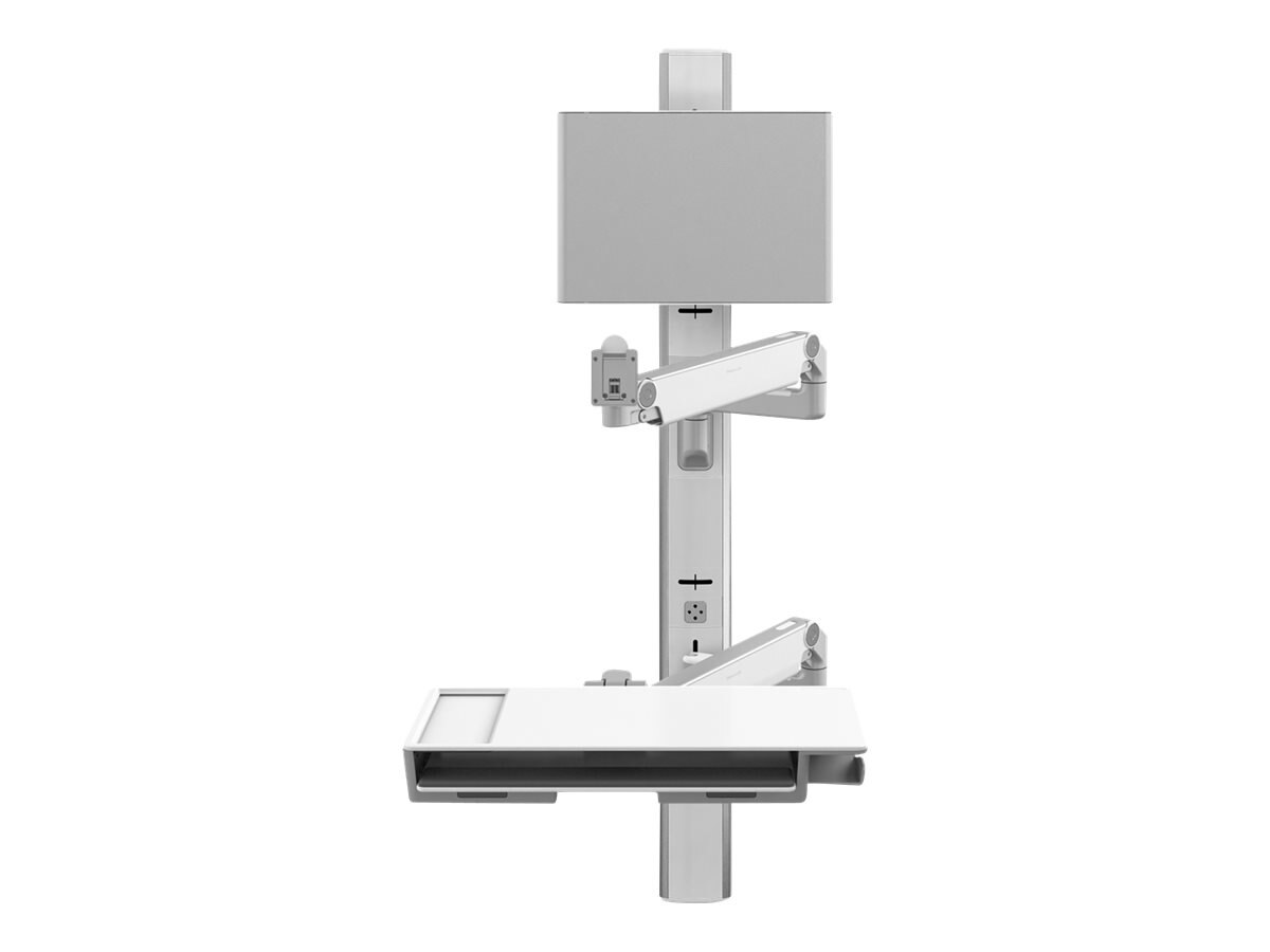 Humanscale V6 Wall Station, 57 Track, (2) 9 Straight 20 Dynamic Arm