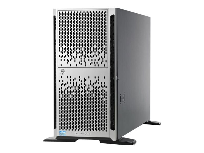 Open Box HPE ProLiant ML350p Gen8 5U Tower Xeon 6C E5-2620 v2 2.1GHz 8GB 8x2.5 Bays DVD-ROM 4xGbE 460W, 736984-S01, 31106246, Servers