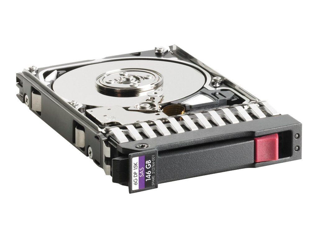 HPE 146GB 15K SAS 6Gb s DP 2.5 Internal Hard Drive, 512547-B21, 9949298, Hard Drives - Internal
