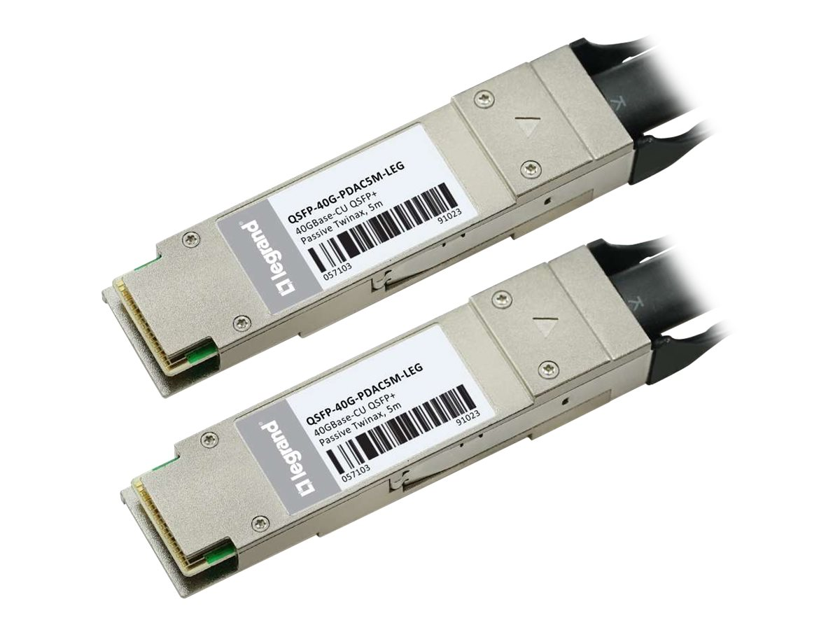 C2G 40GBASE-CU QSFP+ to QSFP+ Direct Attach Passive Twinax Cable, 5m, MSA and TAA Compliant