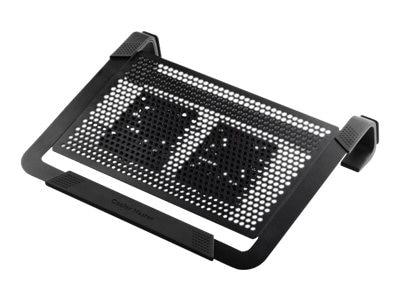 Cooler Master NotePal U2 Plus Notebook Cooling Pad with Dual Fans, Black Silver, R9-NBC-U2PK-GP