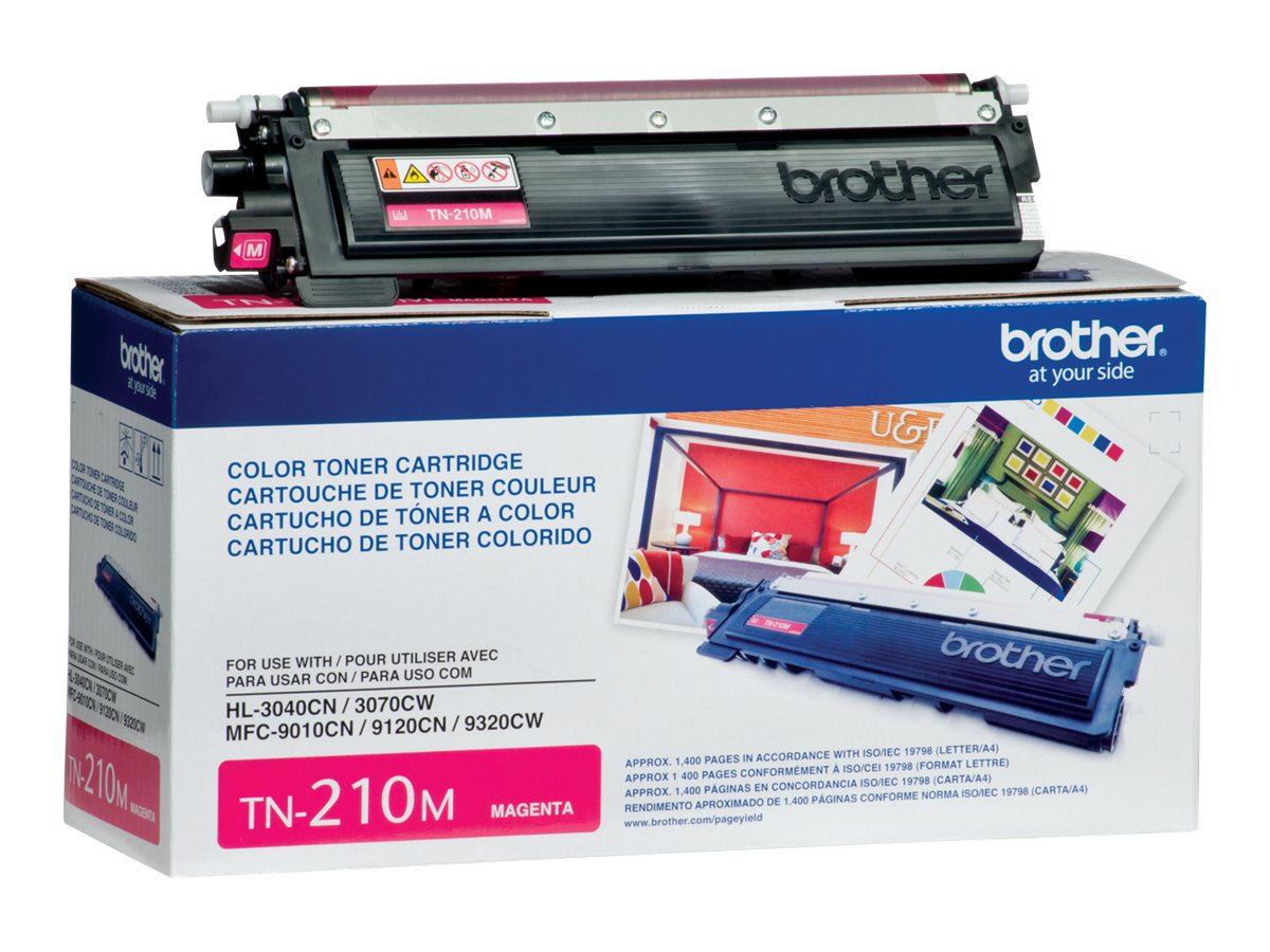 Brother Magenta TN210M Toner Cartridge, TN210M, 10344608, Toner and Imaging Components