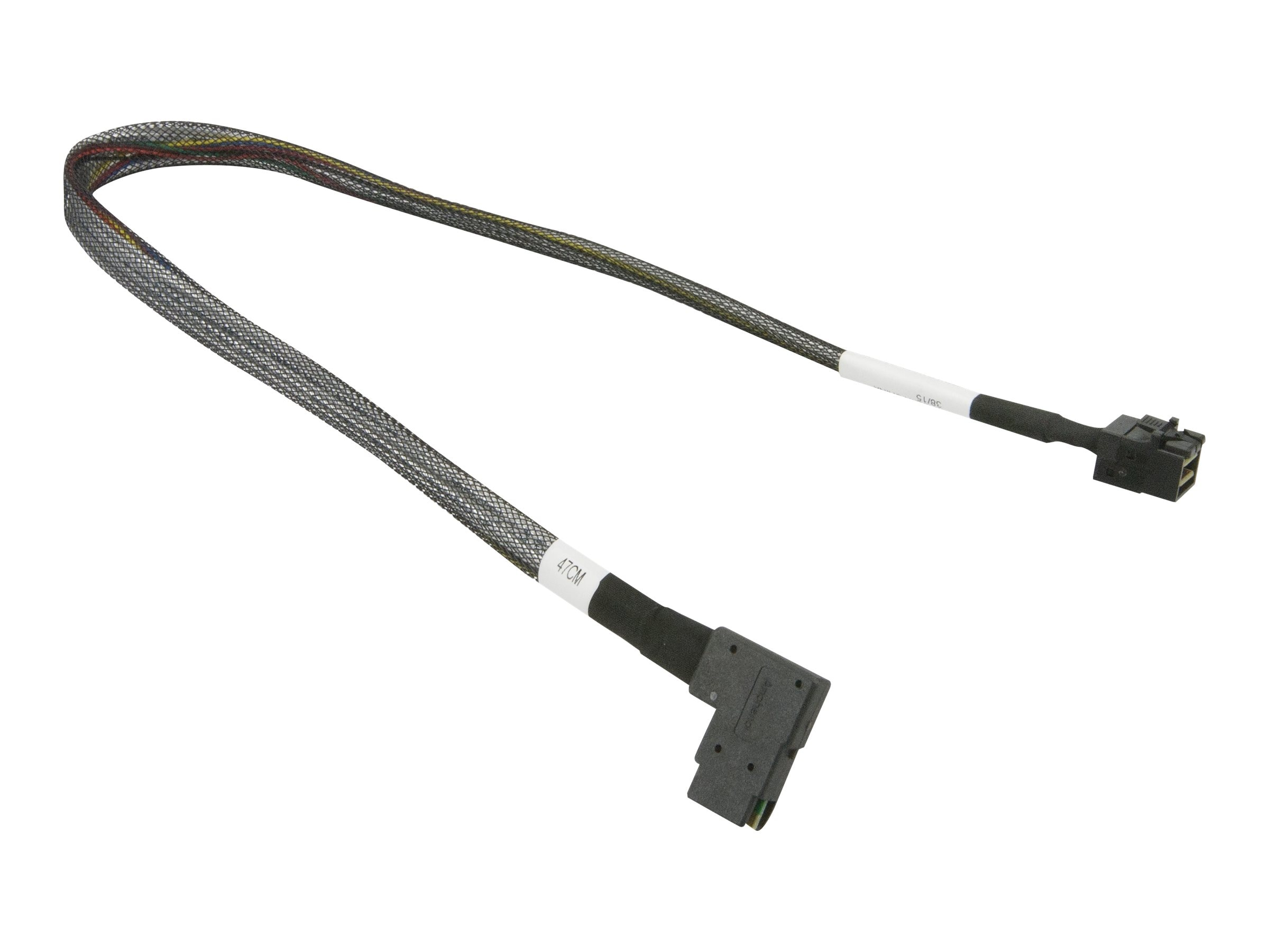 Supermicro 30AWG miniSAS to miniSAS HD Cable, 47cm, CBL-SAST-0655