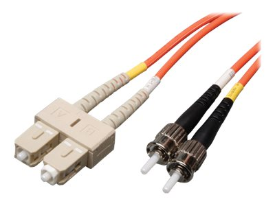 Tripp Lite Fiber Optic Patch Cable, ST-SC, 62.5 125, Duplex, Multimode, 3ft, N304-003, 390933, Cables