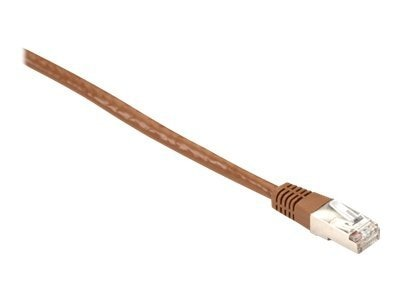 Black Box Cat6 400MHz Shielded FTP Solid Backbone Cable, Brown, 20ft.