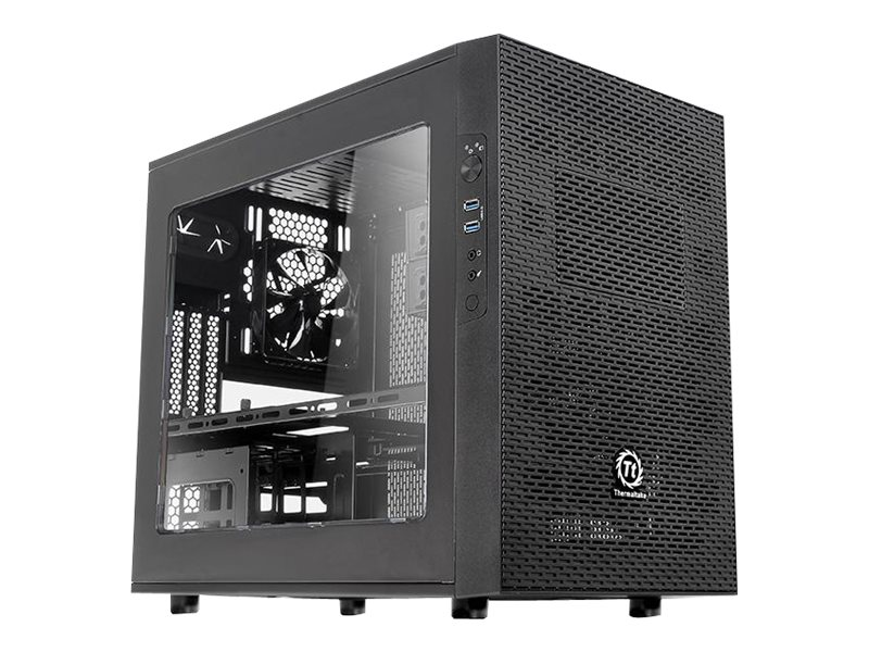 Thermaltake Chassis, Core X1 ITX Cube Mini-ITX 3x3.5 Bays 2x5.25 Bays 3xSlots Window No PSU