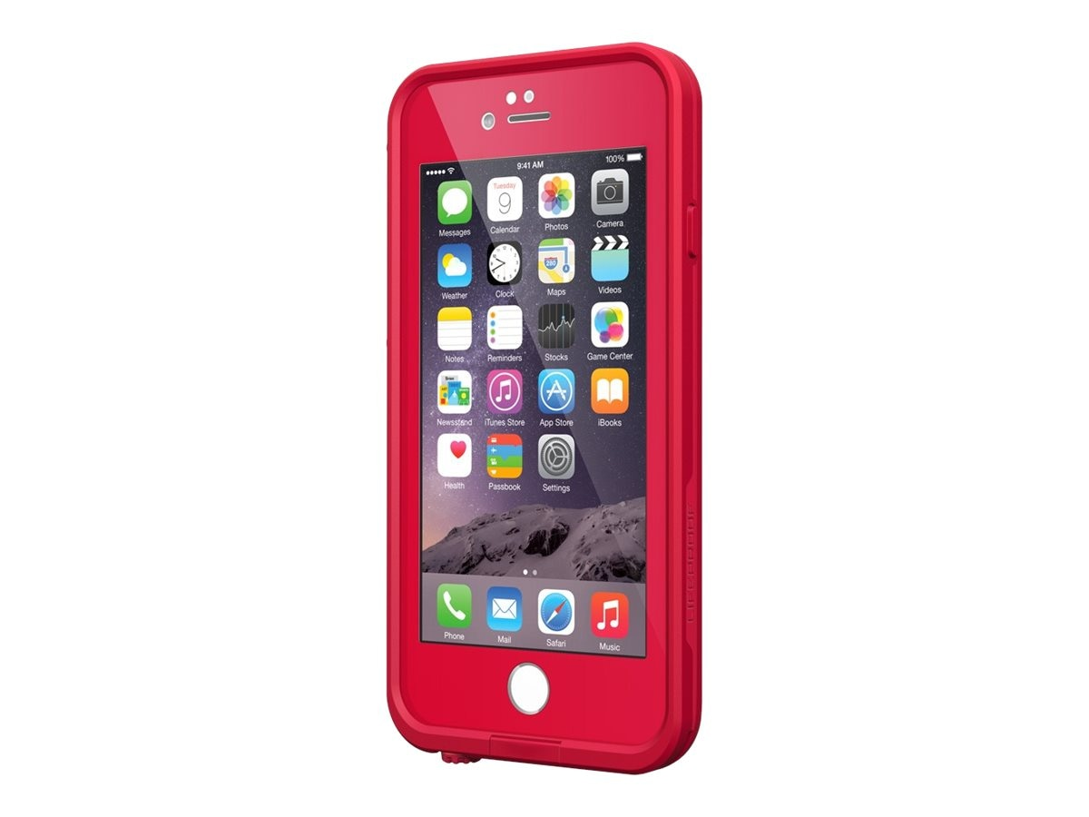 Lifeproof fre V2 Redline for iPhone 6, Red, 77-51322, 30569951, Carrying Cases - Phones/PDAs