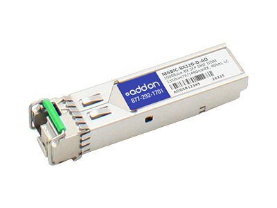 ACP-EP AddOn 1000BASE-BX SFP For Enterasys, MGBIC-BX120-D-AO, 17004067, Network Transceivers